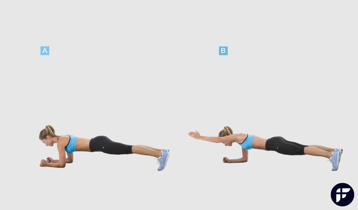How to Do a Diagonal Plank Exercise Properly - Fitwirr