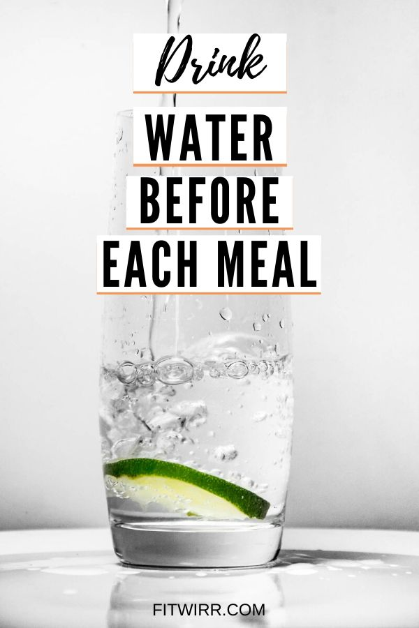 Drink Water Before Each Meal