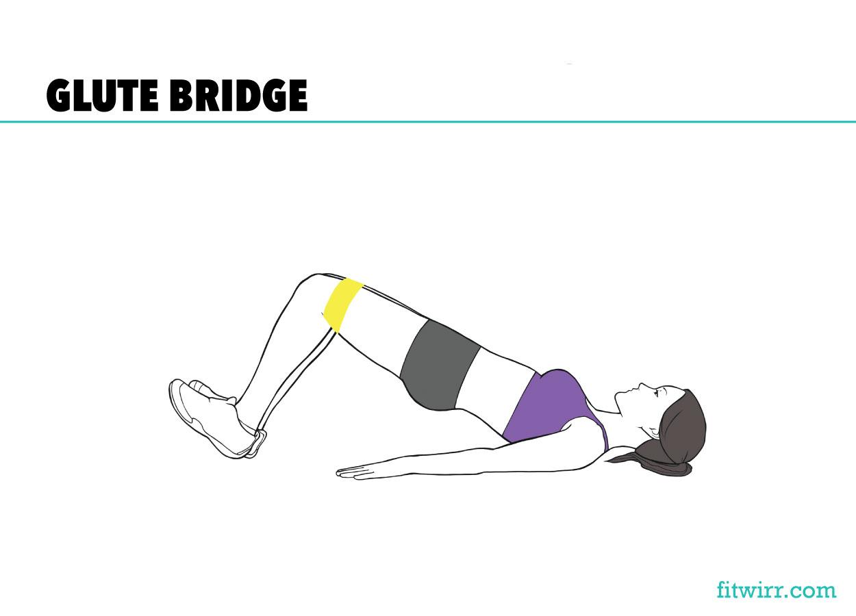 Glute bridge mini-band workout