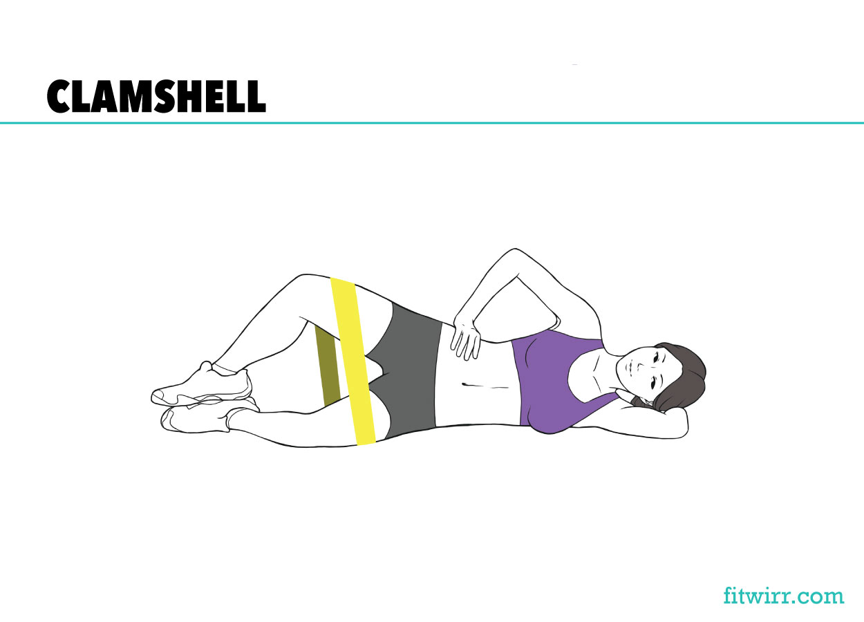 Clamshell exercises